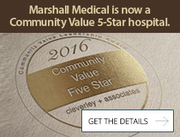 Marshall Medical Centers received a Community Value Five-Star rating