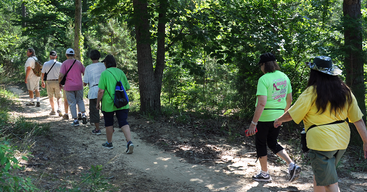 GoldCare hikers at Lake Guntersville State Park