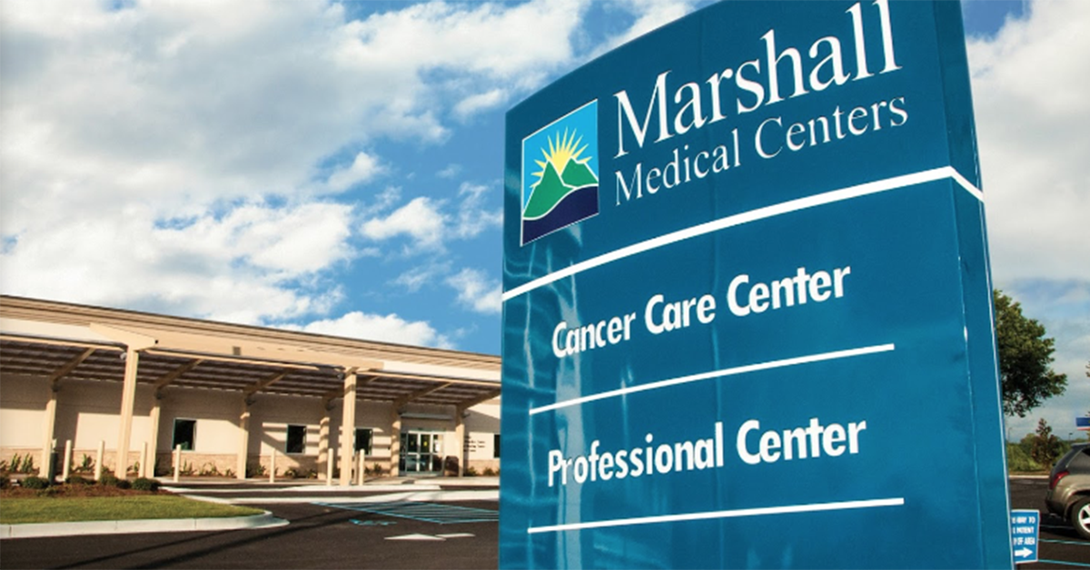 Marshall Professional Center sign and front view